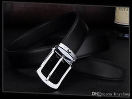Wholesale high quality jeans men - 2018 High quality men's genuine leather belt designer belts men luxury strap male belts for men fashion pin buckle for jeans