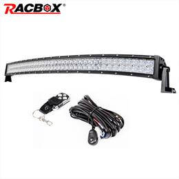 "Wholesale 52 inch led light bar - RACBOX 5D 22"" 32"" 42"" 50 52 Inch Curved LED Work Light Bar Dual Row 120W 180W 240W 300W White 6000K Spot Flood Curving LED Bar"