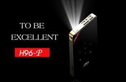 video player de entrada Desconto H96-P S905 Android HD 4 K Decodificação Led Light Projetor Keystone inteligente micro-projeção projetor DLP pico HDMI wifi Bluetooth Miracast
