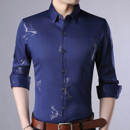 45f83145b2 2018 moda casual slim fit marca de manga larga camisa de los hombres de  streetwear social ropa de pescado camisas para hombre vestido de alta  calidad 6808