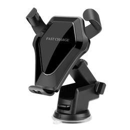 cargadores de coche del teléfono celular de la galaxia Rebajas Stick magnético QI Cargador de coche inalámbrico Soporte para teléfono celular Imán Cuna para coche Soporte de carga para iPhone X / 8/8 Plus Samsung Galaxy S8 / S8 +