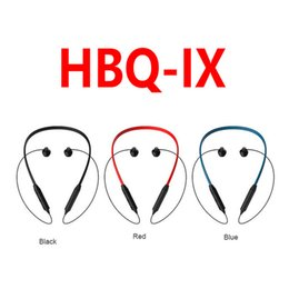 Wholesale better design - Original HBQ IX Wireless Headphones With Magnetic Design Soft Headband 75mAh Bluetooth Headphones Portable Sports Earphones Better Bluedio