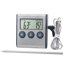 Argentina Sonda Remota Inalámbrica Digital Termómetro Sonda Termómetro Para Parrilla BBQ Horno Temperatura de Carne Ajustada Manualmente supplier digital thermometer for bbq Suministro