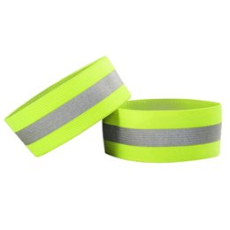 Wholesale Wrist Ankle Bands - 1 Pair Set Autumn Outdoor Running Night Sports Cycling Reflective Wrist Ankle Straps Emergence Safety Warning Bands