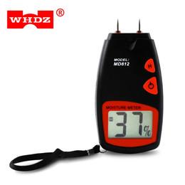 2019 medidor húmedo WHDZ MD812 Medidor de Humedad de Madera Digital Con Pantalla LCD Dos Pines Probador de humedad Timber Damp Detector de Humedad Probador de Prueba B rebajas medidor húmedo