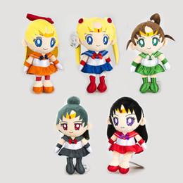 """Luna marinera caliente online-Hot New 5 Estilos 12 """"30CM Sailor Moon Mars Jupiter Pluto Venus Plush Doll Anime Coleccionables Muñecas Rellenos Mejores Regalos Juguetes blandos"""