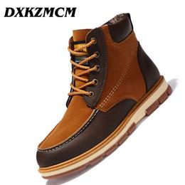 DXKZMCM Warm Men's Pu Cuero Botines Hombres Invierno A Prueba de agua Botas de nieve Ocio Martin Zapatos Hombres desde fabricantes