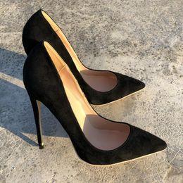 e4016d369d1 2019 botas de tacón de las señoras de ante negro Envío gratis moda mujer  mujer señora
