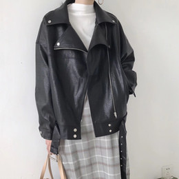 Mutevole Mode Pu Leder Mantel Frauen Zipper Faux Leder Mantel Jacke Langarm Motorrad Gefälschte Leder Jacke Oberbekleidung