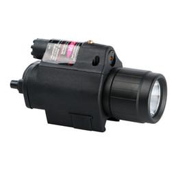 taktische rote led-taschenlampe Rabatt 20pcs -NEW Taschenlampe Tactical Insight Rot Laser CREE LED 300LM Licht Taschenlampe Laterne Für Pistole Pistole für Jagd Camping Angeln