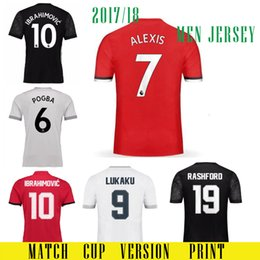 Wholesale Champions League Shirt - 2018 man ALEXIS 7 soccer jerseyS 17 18 MATIC Red Devils POGBA Camiseta RASHAFORD Champions League Jersey LUKAKU IBRAHIMOVIC football shirt