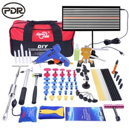Wholesale auto body repairing - PDR tools kit Paintless Car Body dent Repair Tools set tool to Remove Dents Auto Repair Tool Dent Puller Glue Gun slide Hammer