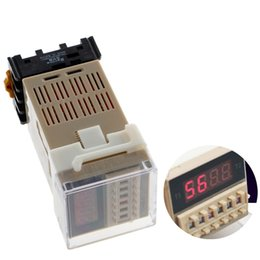 Wholesale Low Socket - AC 220V Digital Precision Programmable Time Delay Relay DH48S-S With Socket Base W329