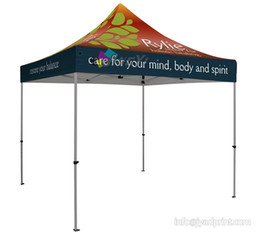 Wholesale Show Tents - 10X10ft (3X3M) Customized Trad Show LOGO printed Canopy Tent, Promotion Event Advertising Tent With POP up Aluminum Alloy Frame