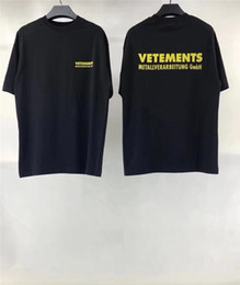 T-shirt imprimé Vetements Hommes Lettre 1: 1 T-shirt Vetements ? partir de fabricateur