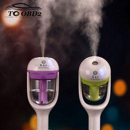 2019 añadir autos Ambientador de aire del coche Pulverizador difusor automático Agregue agua Auto Niebla Moaker Fogger Purificador de aire de vapor Humidificador de coche Perfume perfectamente añadir autos baratos
