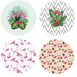Wholesale green picnic - New 12 Design Flamingo Round Beach Towels Beach Picnic Blanket Yoga Mat Summer Picnic Blanket Beach Cover Up 150cm 10PCS DHL Free