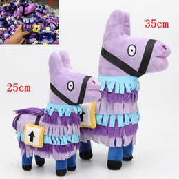 Wholesale graduation plush toys - 20 25 35cm Fortnite Plush Doll Troll Stash Llama Figure Soft Stuffed Horse Animal Cartoon Action Figure Toys Kids Party Gift AAA750