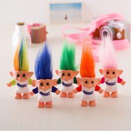 2019 bambola di troll all'ingrosso Troll Doll da 10 cm con bingo Leprechauns Dam Giocattoli Russ Troll giocattoli per bambini Regalo di compleanno all'ingrosso sconti bambola di troll all'ingrosso