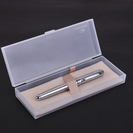 2019 jinhao stahlstift Neue Edelstahl Jinhao 750 Tintenroller Schwarz Tinte 0,7mm Refill Silber Clip Kugelschreiber mit Einem Box 12 Farben für Wählen rabatt jinhao stahlstift