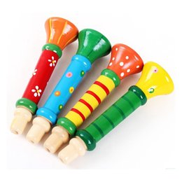 Wholesale Wood Instruments Music - Orff Colorful Children Toys Wooden Color Perception Of Music Early Childhood Educational Cute Toys Wholesale Horn Instrument