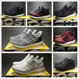 Wholesale Running Shoes Size 47 - [With Box] HOT UltraBoost 3.0 Triple Black white Men's Women's Running Sport Shoes Ultra Boost 3.0 shoes breathable sneaker Size eur 36-47