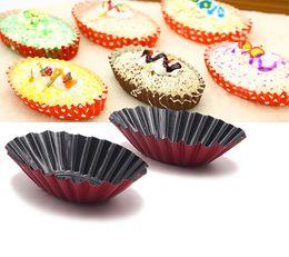 Wholesale Pie Designs - 12-picec Fluted Design Oval Shape Tart Mold   Tartlet Tins   Mini Pie pan. Cake mold