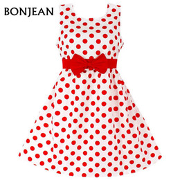 Wholesale Summer Dresses For Kids Sale - Hot Sale Fashion Christmas Super Bow tie girls dresses for party wedding Dot print Princess Kids Dress Children's Clothing