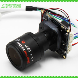 Wholesale Ip Board Camera - AHWVSE lowest Illumination Sony IMX326 5MP 1080P IP Camera Board cctv security camera Module with 2.8-12MM lens 3MP