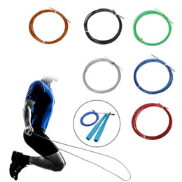 crossfit cable jump rope Coupons - 3m Crossfit Replaceable Steel Wire Cable Speed Jump Ropes Skipping Spare Rope