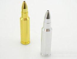 Forma di pallottola in metallo online-XXL 90mm Bullet Shape Herb Pipa da Pipa Lungo Metallo Tabacco Spezia Mano Fumo Secco Tubi Erbe Gadget Portasigarette Strumenti Accessori