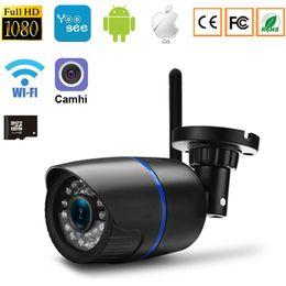 2019 cámaras de control de sonido Cámara IP Cámara Wifi 1080 P 960 P 720 P Red de Casa CCTV Monitor de Bebé Cámaras de Seguridad Inalámbrico Con Cable P2P Bullet Soporte de Cámara para Exteriores 64G