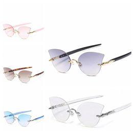 2ec76cb527e Women Transparent Ocean Lens Sunglasses Ocean Piece Frameless Rimless Pearl  Nose Clip Decoration Sunglasses Vintage Glasses 5Colors LJJO4743