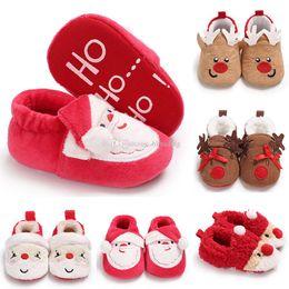 2019 новорожденная зимняя обувь Дети зимой Санта-Клаус лося Обувь младенческая рождественская обувь оленя Новорожденные девочки мальчики Xmas обувь Детские малыши Первые ходунки 5 стилей C2985 скидка новорожденная зимняя обувь