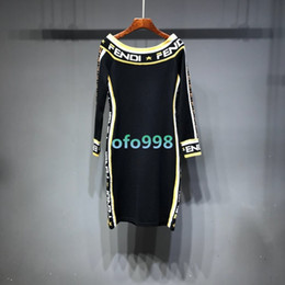 2019 миди платья для свитеров Женские девушки с плеча Maxi midi с длинными рукавами Установленное центральное разрезное платье джерсити тонкое сексуальное платье с тонами спортивной рубашки свитера дешево миди платья для свитеров