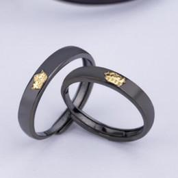 2020 paare krone ringe Luxusschmucksachen S925 Sterlingsilberentwerfer schellt für klassische schwarze Krone des Paares einfach für Geliebte heiße Art und Weise frei von Verschiffen günstig paare krone ringe