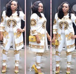 2018 Summer Traditional African Clothing 2 Piece Set Women Africa Print Dashiki Dress African Clothes da yukata seta rossa fornitori