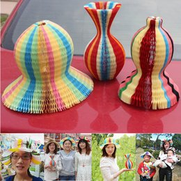 Wholesale Wave Caps Wholesale - Portable Folding Hats Wave Type Paper Vase Hat For Men And Women Cap Easy To Carry 1 29xq B