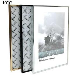 Fotokunst poster online-Frame Wall Art dekorative, klassische Super Narrow Aluminium A4 A3 Plakatrahmen für Wandbehang, Metall Bilderrahmen, Zertifikat Rahmen,