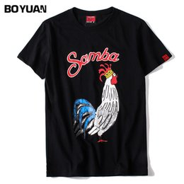 Wholesale Top Cock - BOYUAN T-Shirt Men 2018 Summer Short Sleeve T Shirt Male Cotton Big Cock Printed Black O-Neck Hip Hop TShirt Men Tops Tees LT320