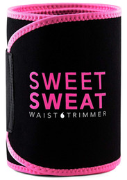 body wraps Coupons - 2018 Sweet Sweat Premium Waist Trimmer Trainer Men Women Belt Slimmer Exercise Ab Waist Wrap Best Summer Neoprene Sports Body Shaper