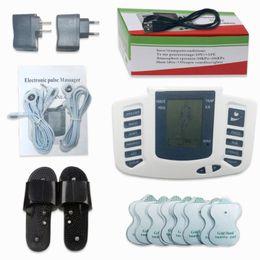 импульсная терапия Скидка Горячая электростимуляторы полное тело расслабиться мышцы массажер цифровой десятки пульс иглоукалывания с терапия слиппер 16 шт электрода колодки