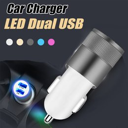 Wholesale huawei usb adapter - NOKOKO Dual USB Car Charger Universal Smart Travel Adapter Car Chargers For iPhone Galaxy Nokia LG Huawei Oneplus