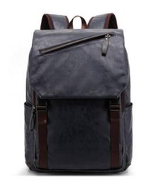 backpack factory Promo Codes - factory direct selling brand new men's backpack brand simple and comfortable wind leather backpack of men students bag Mountaineering bag