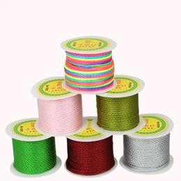 Sıcak Satış 27 yard / rulo 3mm Naylon Kordon Çince Knot Kordon Makrome Halat Boncuk Konu Dize DIY Takı Craft Yapımı için cheap craft knots nereden zanaat knot tedarikçiler