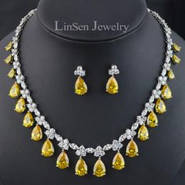 L'opzione di 5 colori di lusso Cubic Zirconia partito / matrimonio set di gioielli da sposa per le donne / ragazza, alta qualità della collana orecchino set da costume di abbigliamento hanfu fornitori