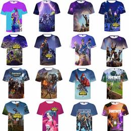 Fortnite Game Print 3D T-shirts Men Women kids game Short Sleeved Tops Tee o-neck Funny Casual fashion tee Tops T-Shirt GGA1175