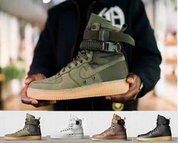 Wholesale One Boot - NEW Special field one Air 1 Faded Olive Gum Light Brown Beige Linen high Boots Men Women Running Shoes sports size 36-45