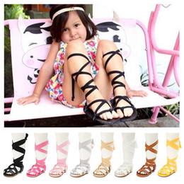 Wholesale Wholesale Gladiator Heels - Fashion baby girls leather gladiator sandals fringe shoes toddler infants summer Tassel baby sandals free shipping