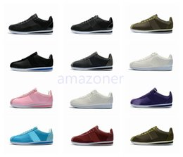 Wholesale Run Machine - Hot Sale Cortez Machine embroidery punching Running Shoes For Mens and Womens Fashion Brand Outdoor Cortez Zapatos Size Eur 36-44